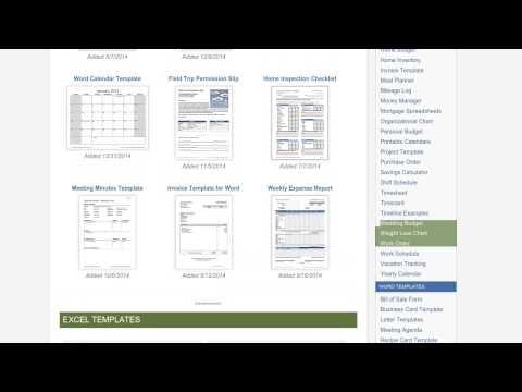 Downloadable Excel Templates