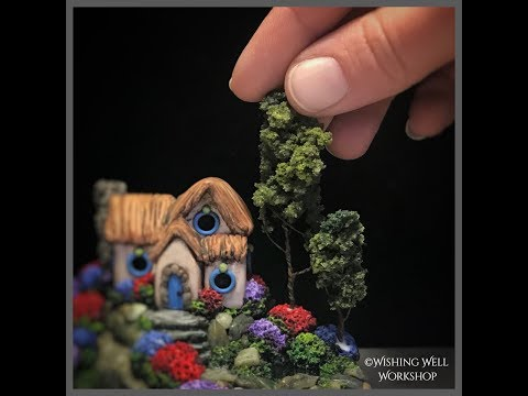Polymer Clay Woodland Cottage Sculpture Time Lapse, Fairy House, Polymer Clay Fairy House