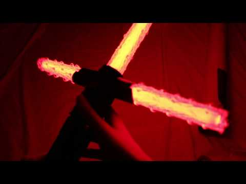 CosplayCovers Custom Flame Blade Covers unboxing Star Wars Black Series Kylo Ren Force FX lightsaber