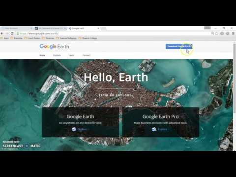 Groundwater Contamination  Google Earth Tutorial #1  Downloading the Program