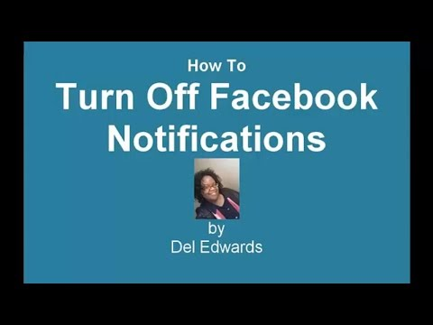 How To Turn Off Facebook Notifications
