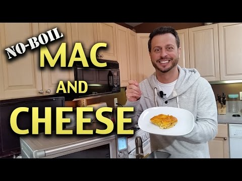 NO-BOIL MAC AND CHEESE IN A TOASTER OVEN
