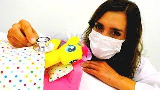 LUSTIGE SCHULE 🎉 My Little Pony Spielzeuge sind krank 🤒 My Little Pony Spiele + Max der Bagger