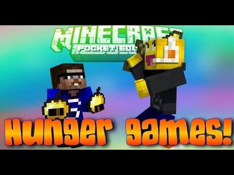 MCPE (old) 0.8.0 HUNGER GAMES! With/Steve & Alan!
