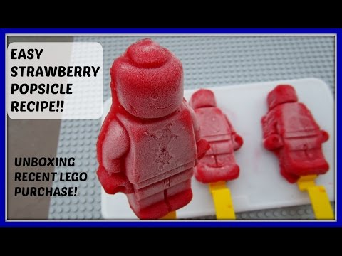LEGO POPSICLE 🍓 STRAWBERRY POPSICLE RECIPE AND UNBOXING LEGO PURCHASE