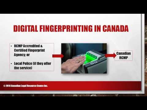 RCMP Fingerprint Instructions