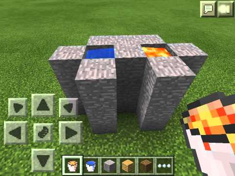 How to make a cobblestone generator in Minecraft Pocket Edition