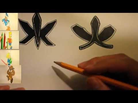 How To Draw The Power Rangers Samurai Symbols|Cool Symbols