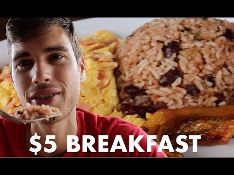 Trying Costa Rican Food | $5 Breakfast in Costa Rica | Day 5