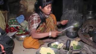 Cutting and cooking pumpkin in traditional way ll Primitive technology