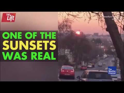 Weather Channel shows TWO Suns setting in opposite directions in London!?!?!