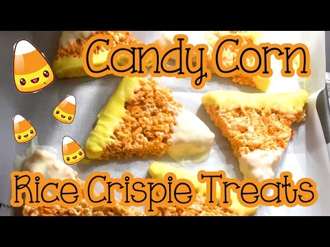 DIY Candy Corn Rice Crispie Treats