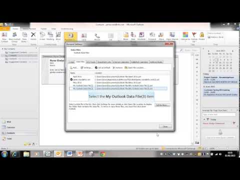 Mapping to Outlook Data Files PST folders
