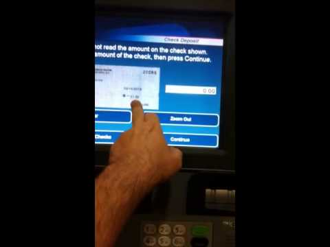 How to do a check deposit on a Suntrust Bank ATM
