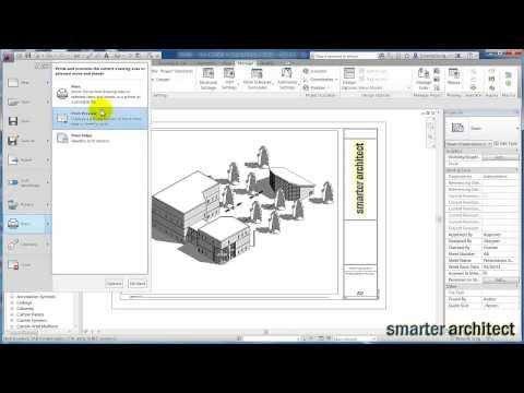Autodesk Revit Tutorial: Revit To PDF