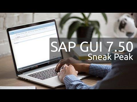 SAP GUI 7.50 - UI Sneak Peek