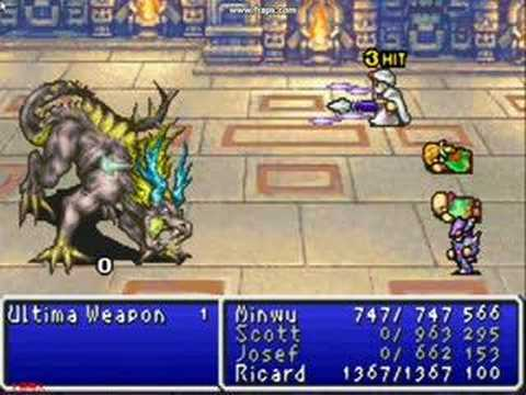 Final Fantasy Dawn of Souls -  Ultima Weapon in 3 hits