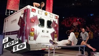 Ambulance attacks: WWE Top 10