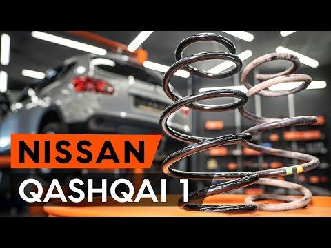 How to replace rear springs / rear coil springs onNISSAN QASHQAI 1 (J10) [TUTORIAL AUTODOC]
