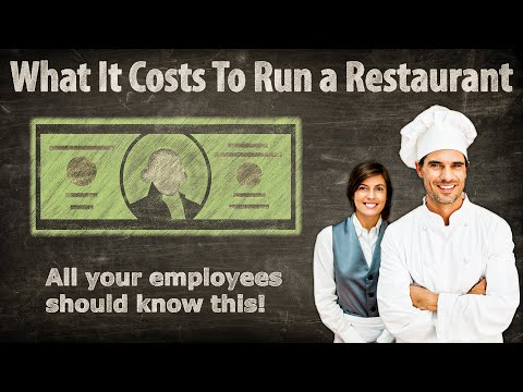 What It Costs To Run a Restaurant