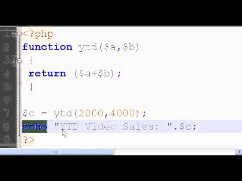 PHP Function Call with Parameters and Return Statement 10c