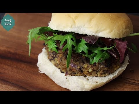 Spicy Vegan Bean Burger Recipe!