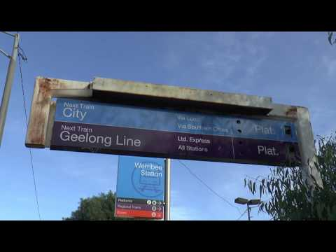Werribee Station V/Line Geelong Services and Metro Trains 9th June 2015