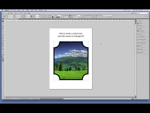How to create box shapes and corners - InDesign CC