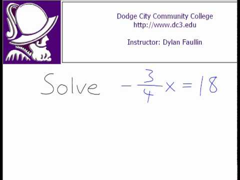 Solving a Linear Equation for 'x' (with a fraction)