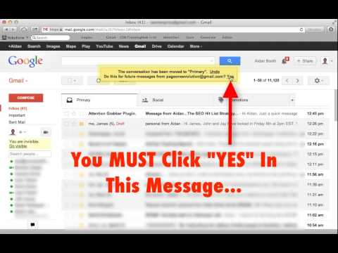 The New Gmail Inbox - How To Make Sure You Get My Emails - AidanBooth.com