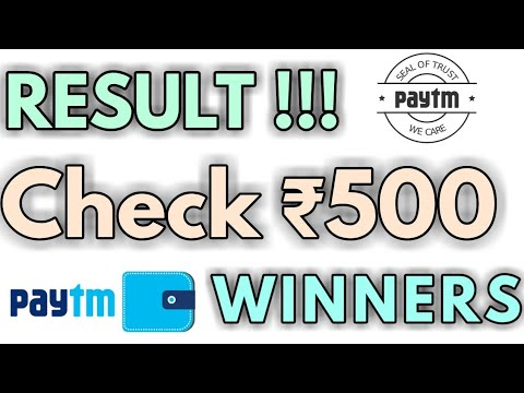 ₹500 PAYTM GIVEAWAY RESULTS ll Lots Of Giveaways Coming🤑