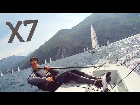 ACTIONPRO X7 - Laser Sailing Lake Garda   Wecamz