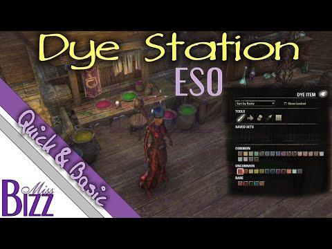 Dye Station in ESO - How to Dye Armor in Elder Scrolls Online - Dye Station Guide