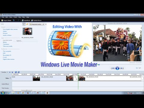 How to editing video with windows live movie maker tutorial