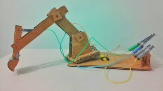 How to make hydraulic jcb from cardboard. Diy at home.