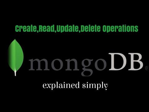 Start MongoDb and perform crud operations (create,read,update,delete MongoDb Document) in MongoDb