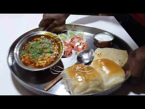 Eating Challenge Huge Misal Thali.