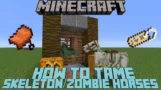 How To Tameride A Skeleton Horse Zombie Horse In Minecraft 110 111 Mc
