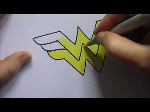 How To Draw A Wonder Woman Logo