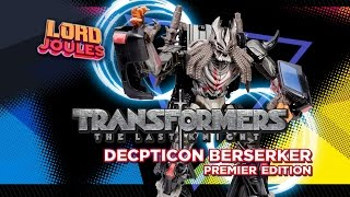 Transformers The Last Knight Decepticon Berserker Premier Edition en español