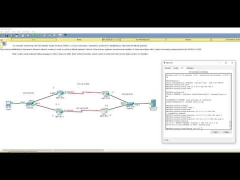 - HSRP (Hot Standby Router Protocol) configuration - Packet tracer (Cisco)