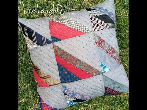How to make a quilt block using old ties