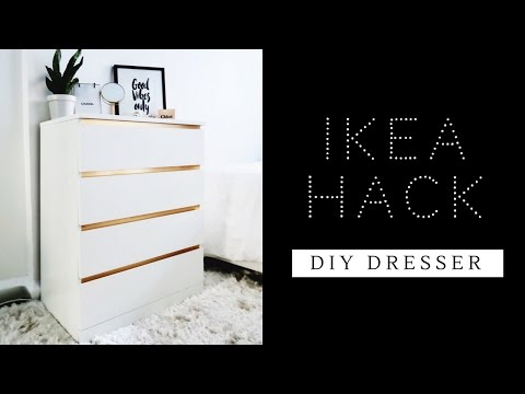 EASIEST IKEA HACK EVER | DIY DRESSER | MALM DRESSER