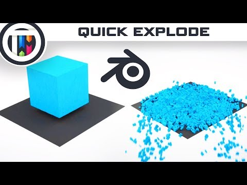 Blender Tutorial - How to use the Quick Explode Modifier