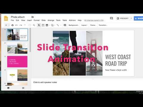 Transition Animation Google Slides