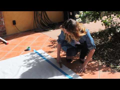 Pinterest Inspired- Drop Cloth Tutorial