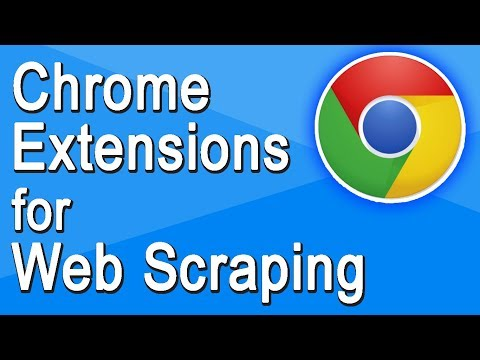 Web Scraping with Chrome Extensions