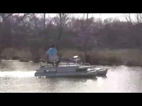 Pond King Sport Mini Pontoon Boat