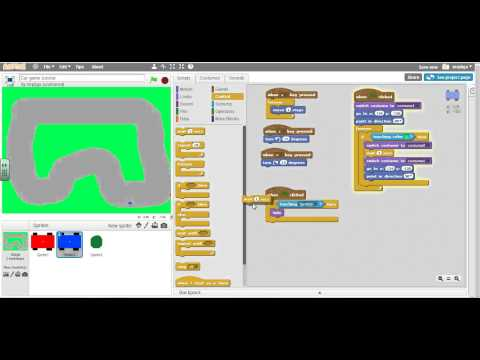 Scratch 2.0 Car Racing Game 9: Destroy enemies with bullets