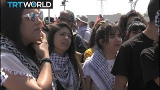 Israel Independence: Palestinians march in Haifa on 70th anniversary